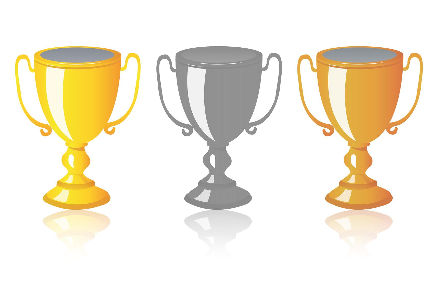 Trophées 3 couleurs