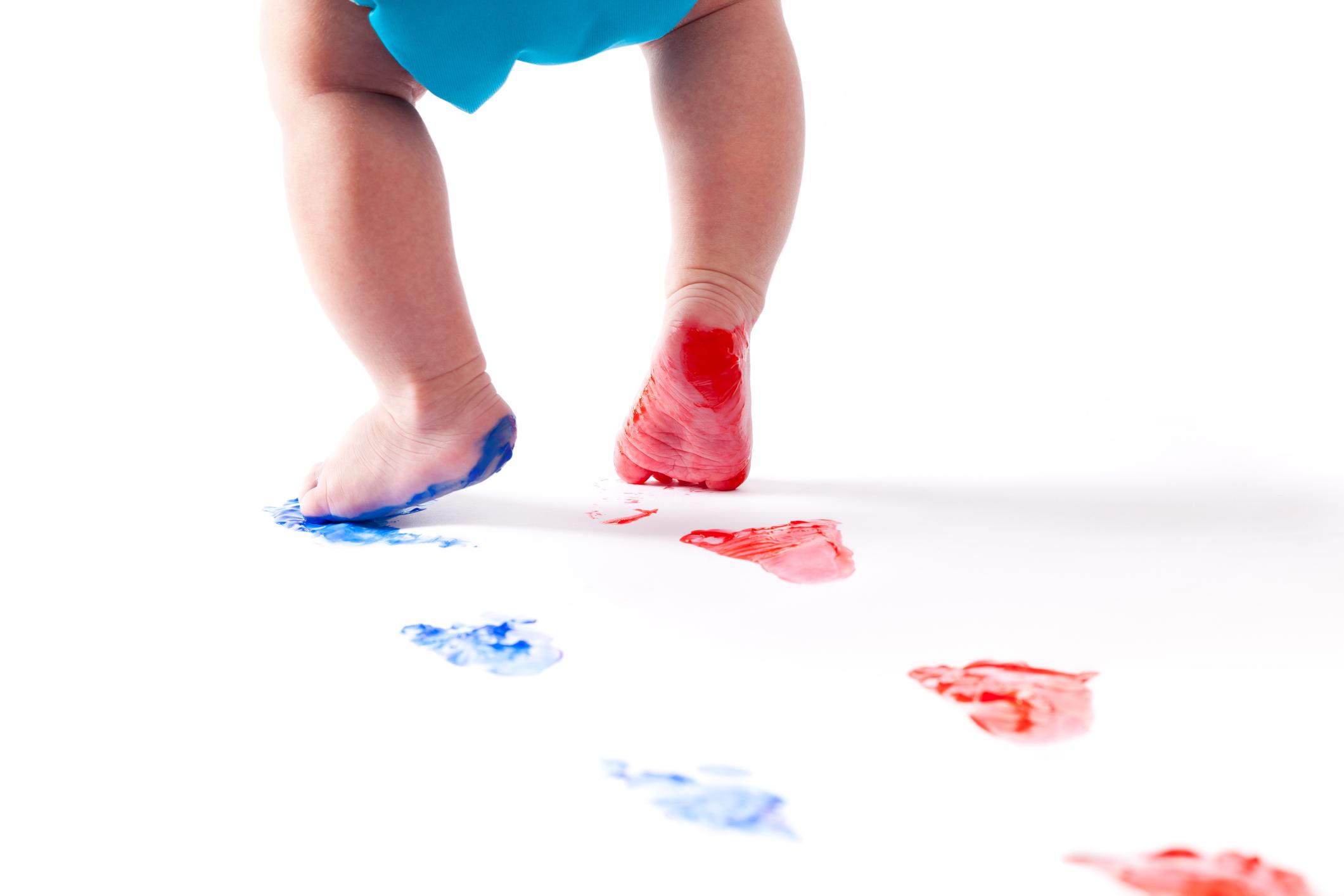 Empreintes de pieds de bébé