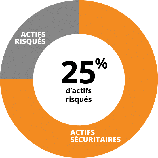 Profil défensif - 25% d'actifs risqués