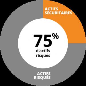 Profil dynamique - 75% d'actifs risqués