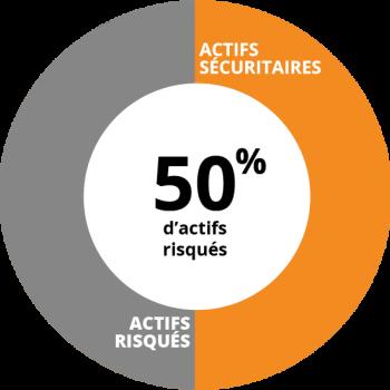 Profil équilibré - 50% d'actifs risqués